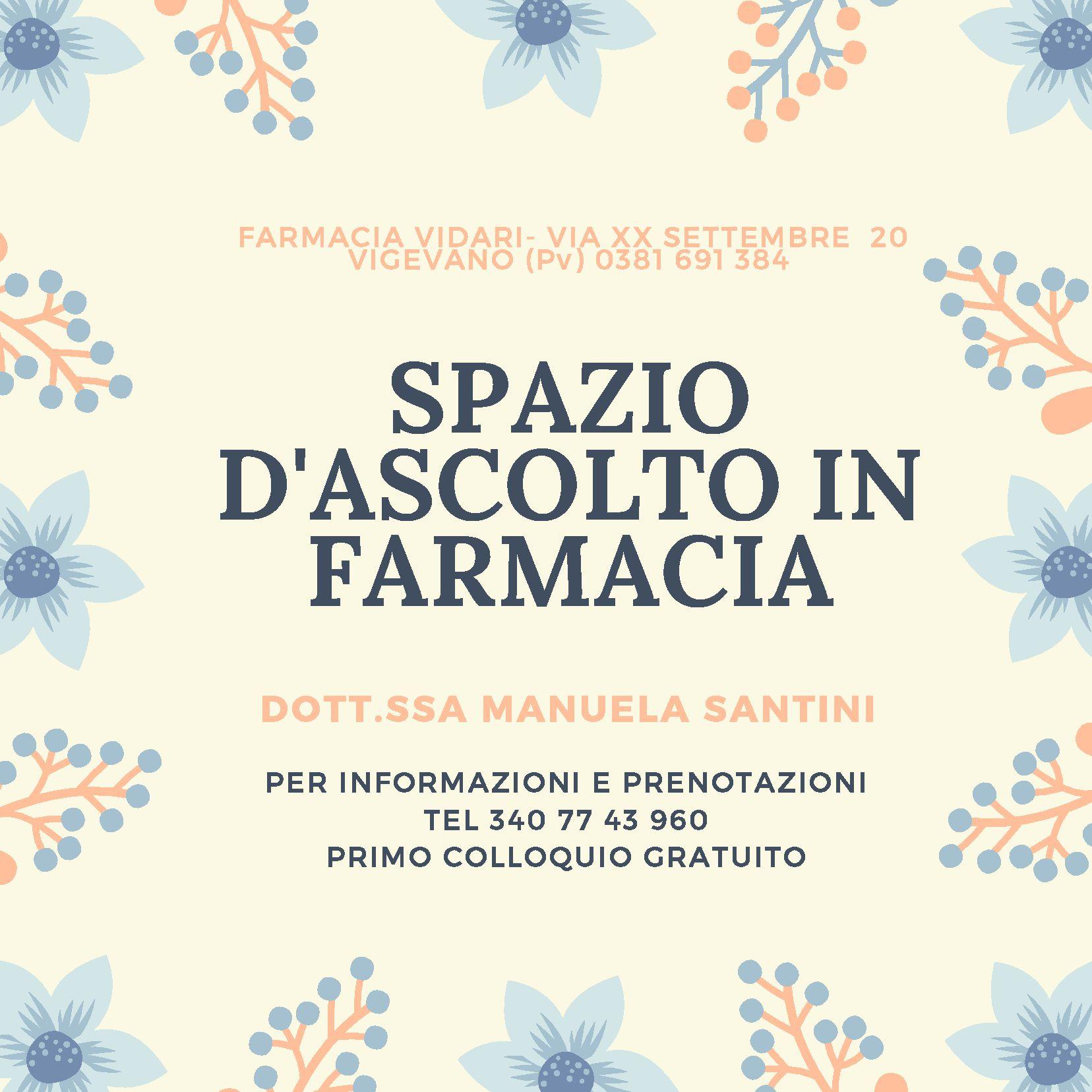 Collaborazione con la farmacia Vidari di Vigevano